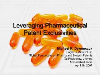 Leveraging Pharmaceutical Patent Exclusivities