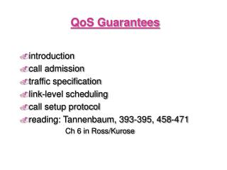 QoS Guarantees