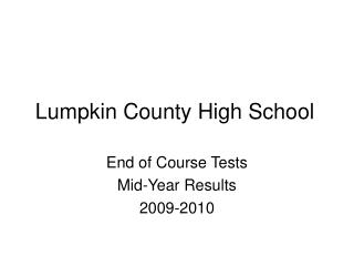 Lumpkin County High School