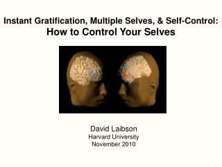 Instant Gratification, Multiple Selves, & Self-Control:  How to Control Your Selves