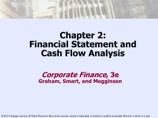 Chapter 2: Financial Statement and  Cash Flow Analysis