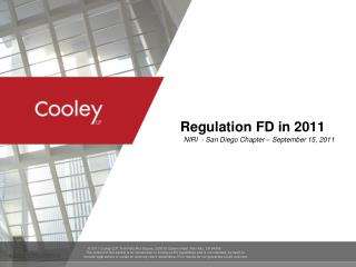 Regulation FD i n 2011