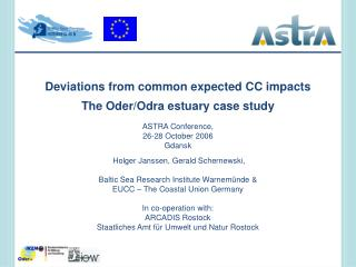 Deviations from common expected CC impacts The Oder/Odra estuary case study