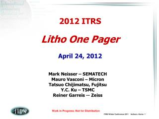 2012 ITRS Litho One Pager April 24, 2012