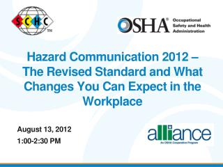 August 13, 2012 1:00-2:30 PM