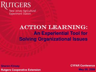 Action Learning :  An Experiential Tool for Solving Organizational Issues