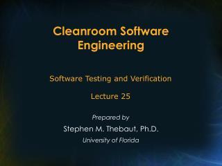 Cleanroom Software Engineering