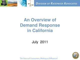 An Overview of Demand Response in California