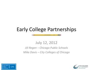 Early College Partnerships