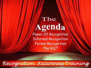 Recognition  Awareness Training