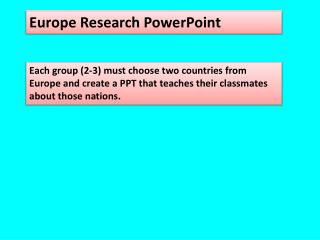 Europe Research PowerPoint
