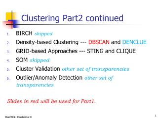 Clustering Part2 continued