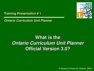 What is the  Ontario Curriculum Unit Planner Official Version 3.0?