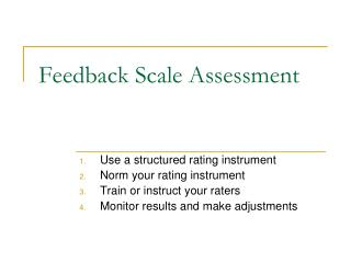 Feedback Scale Assessment
