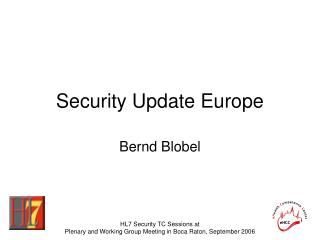 Security Update Europe