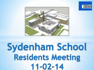 Sydenham School Residents Meeting 11-02-14