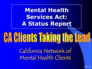 California Network of  Mental Health Clients