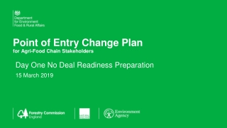 Point of Entry Change Plan for Agri -Food Chain Stakeholders