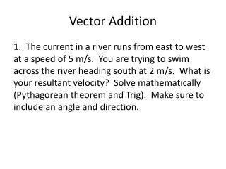 Vector Addition