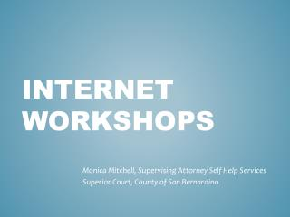 Internet Workshops