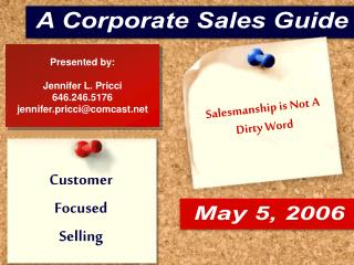 Salesmanship is Not A  Dirty Word