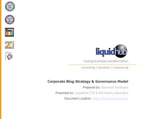 Corporate Blog Strategy & Governance Model