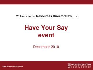 Have Your Say  event