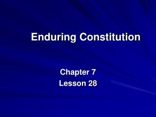 Enduring Constitution