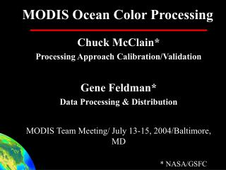 MODIS Ocean Color Processing