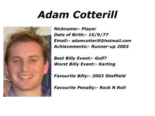 Adam Cotterill