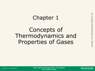 Chapter 1 Concepts of Thermodynamics and Properties of Gases