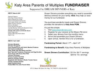 Katy Area Parents of Multiples  FUNDRAISER