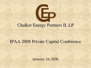 IPAA 2008 Private Capital Conference