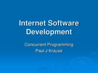 Internet Software Development