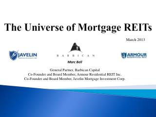 The Universe of Mortgage REITs