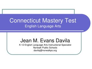 Connecticut Mastery Test English Language Arts