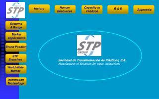 Sociedad de Transformación de Plásticos, S.A. Manufacturer of Solutions for pipes connections