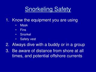 Snorkeling Safety
