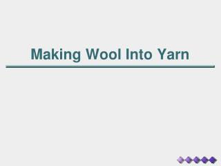 Making Wool Into Yarn