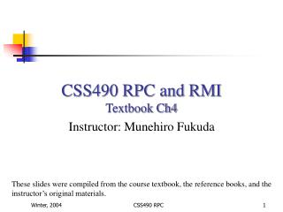 CSS490 RPC and RMI Textbook Ch4