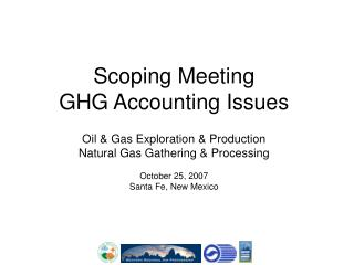 Scoping Meeting GHG Accounting Issues