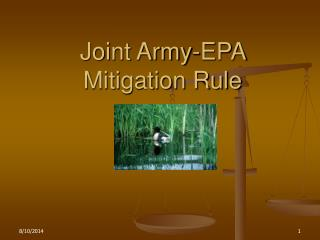 Joint Army-EPA Mitigation Rule