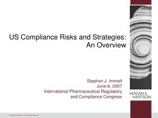 US Compliance Risks and Strategies: An Overview