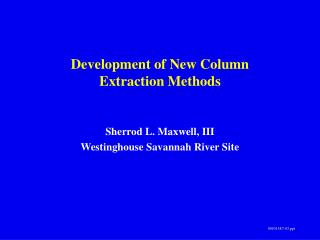 Development of New Column  Extraction Methods
