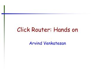 Click Router: Hands on