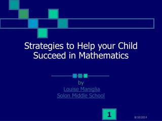 Strategies to Help your Child Succeed in Mathematics