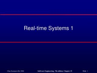 Real-time Systems 1