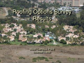 Roofing Options Survey Results