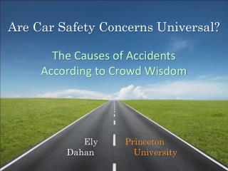 Are Car  Safety  Concerns Universal? The Causes of Accidents  According to Crowd Wisdom