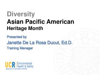 Diversity Asian Pacific American Heritage Month